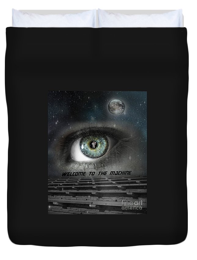 Astronomical Duvet Cover featuring the photograph Welcome to the Machine by Juli Scalzi