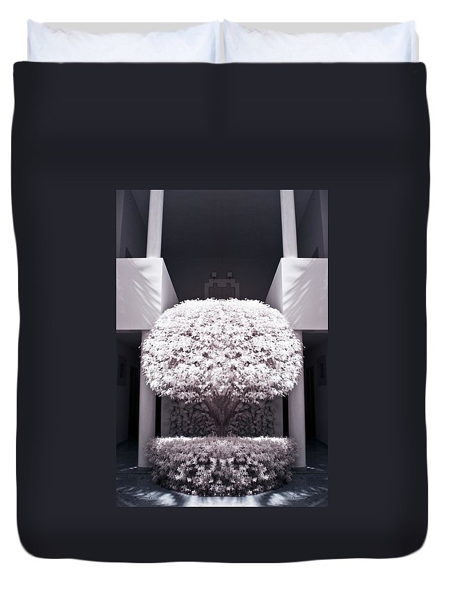 3scape Photos Duvet Cover featuring the photograph Welcome Tree Infrared by Adam Romanowicz