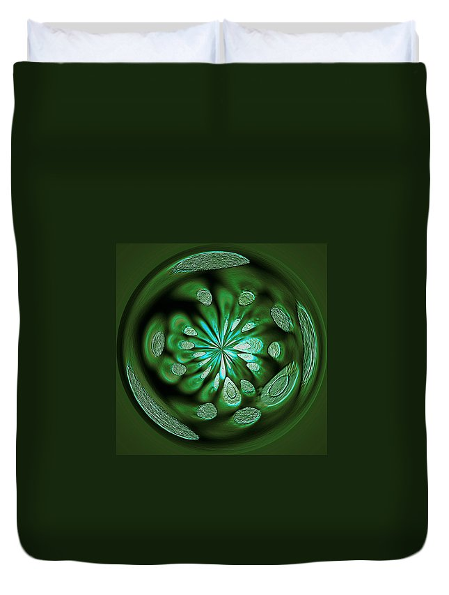 Welding Rods Duvet Cover featuring the digital art Welding Rods Abstract 8 by Ernie Echols