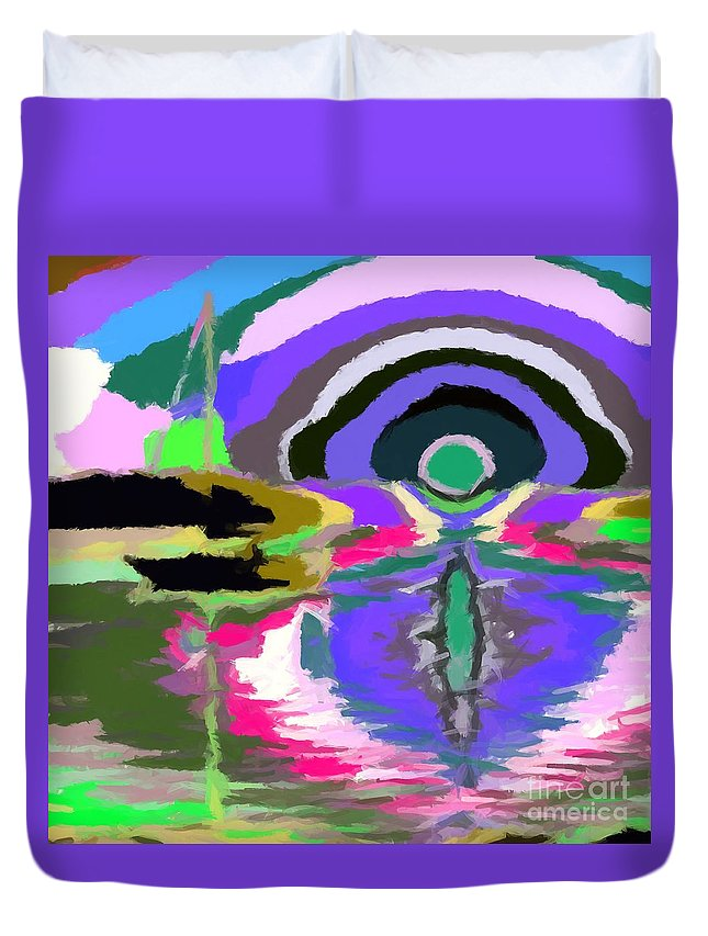 Abstract Duvet Cover featuring the digital art Well I Like It 2 by Chris Butler