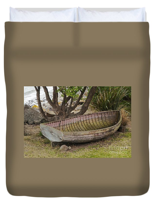 Fleur's Retaurant Duvet Cover featuring the photograph Well Used by Bob Phillips