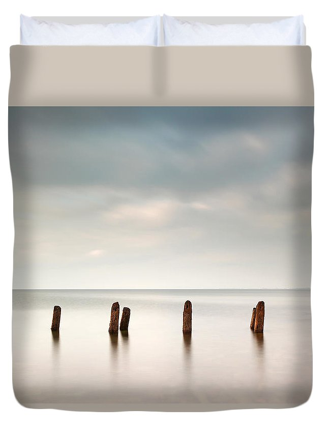 Long Exposure Duvet Cover featuring the photograph West Coast Seascape by Grant Glendinning
