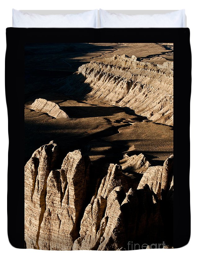 Western Duvet Cover featuring the photograph Western Tibet Geology by Kim Pin Tan