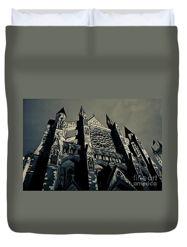England Duvet Cover featuring the photograph Westminster Abbey by Lana Enderle