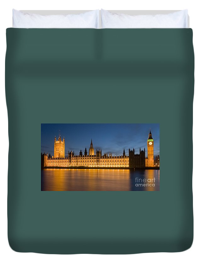 Clarence Holmes Duvet Cover featuring the photograph Westminster Twilight II by Clarence Holmes