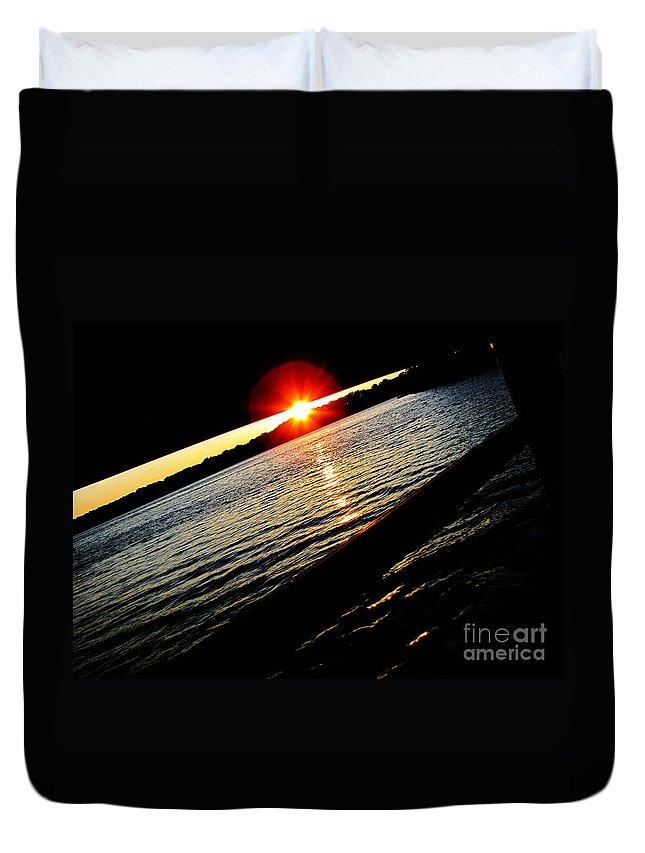 Ron Tackett Duvet Cover featuring the photograph Wharf by Ron Tackett