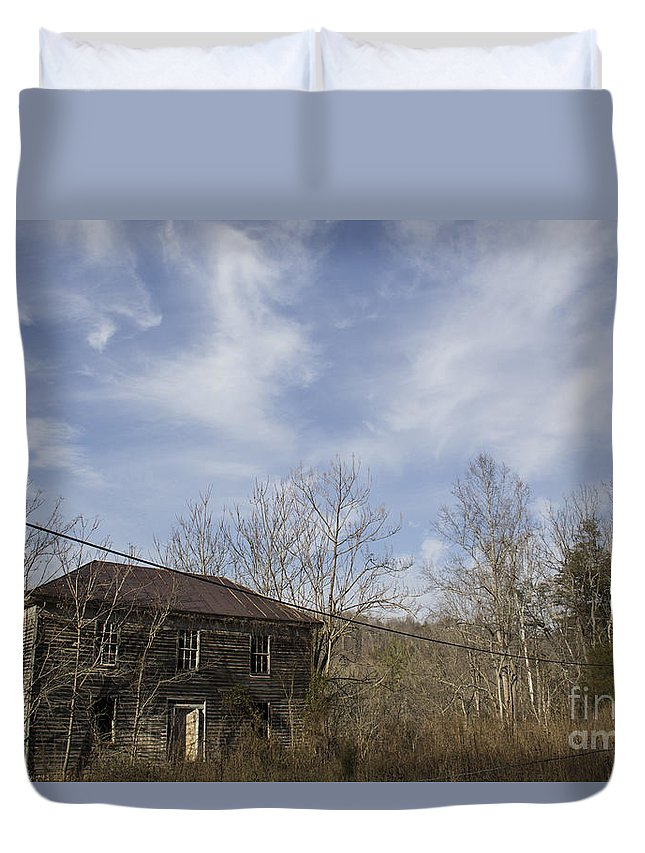 Abandoned Duvet Cover featuring the photograph What A View by Teresa Mucha