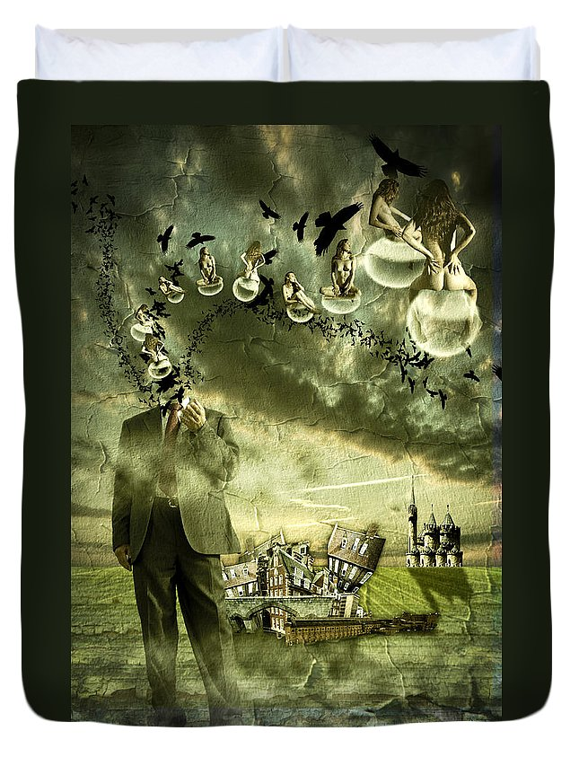 Art Duvet Cover featuring the photograph What Are You Thinking by Nathan Wright