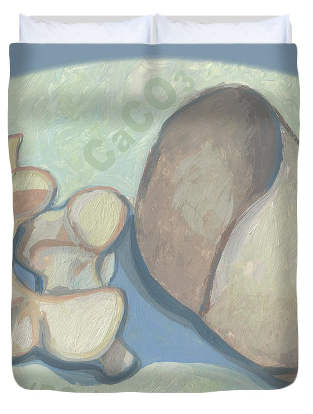 Caco2 Duvet Cover featuring the painting What Do These Things Have In Common Which Ones Are Kind Of The Same by Richard Glen Smith