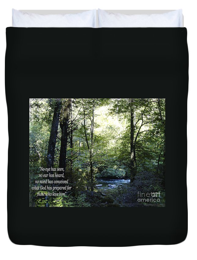 Water Duvet Cover featuring the photograph What God Prepares by Sandra Clark