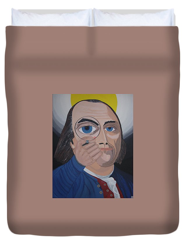Historical Duvet Cover featuring the painting What Have You Done by Dean Stephens