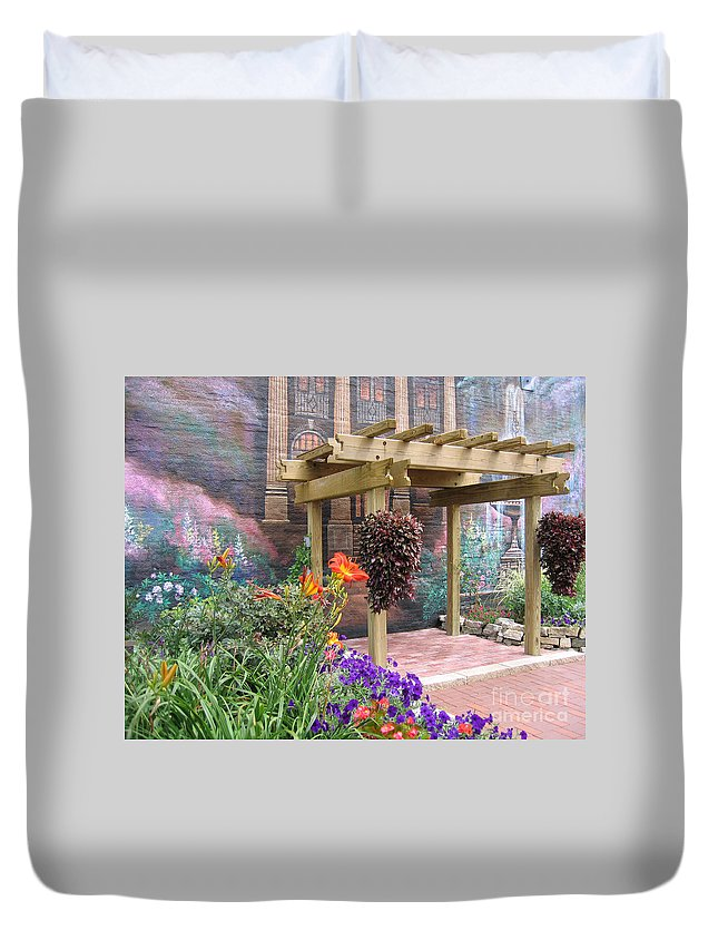 Mural Duvet Cover featuring the photograph What Might Have Been And Now Is by Ann Horn