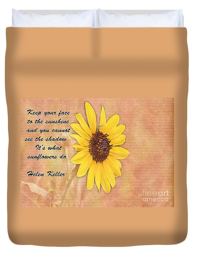 Summer Duvet Cover featuring the photograph What Sunflowers Do by Janice Pariza