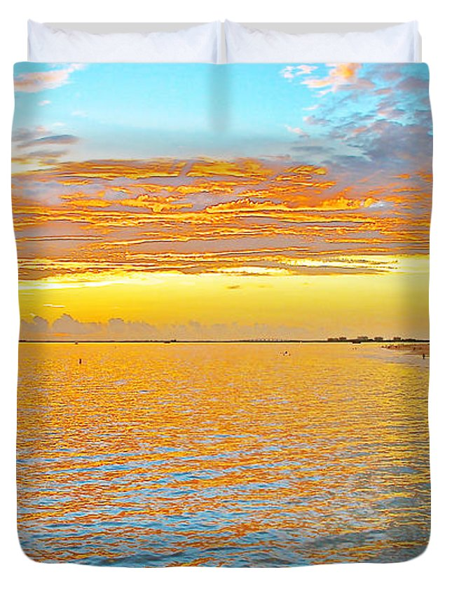 Sunset Duvet Cover featuring the photograph Where Orange Touches Orange by Olivia Novak