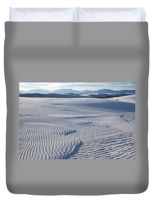 White Sands Duvet Cover featuring the photograph Which Way Does The Wind Blow by Vivian Christopher
