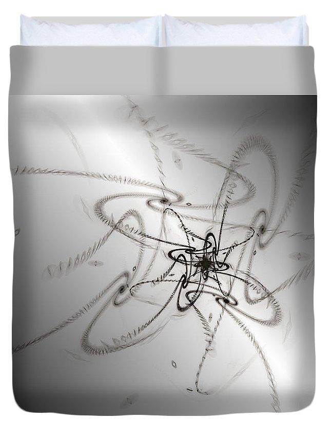 Swirls Duvet Cover featuring the digital art Whimsy Q by Kiki Art