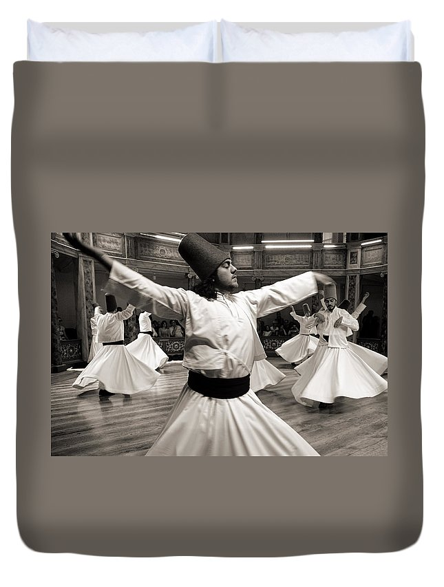 Dervishes Duvet Cover featuring the photograph Whirling Dervishes by For Ninety One Days