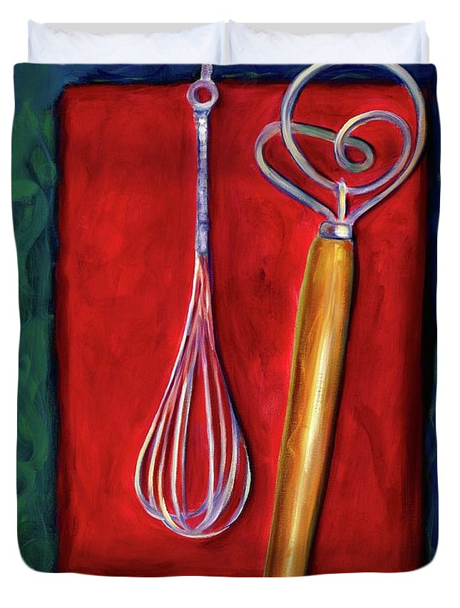 Whisks Duvet Cover featuring the painting Whisks by Shannon Grissom
