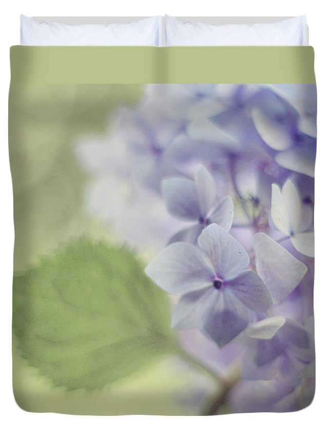 Hydrangea Duvet Cover featuring the photograph Whisper by Amy Tyler