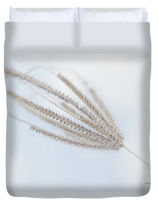 Blue Sky Duvet Cover featuring the photograph Whispering Weed by Vicki Ferrari