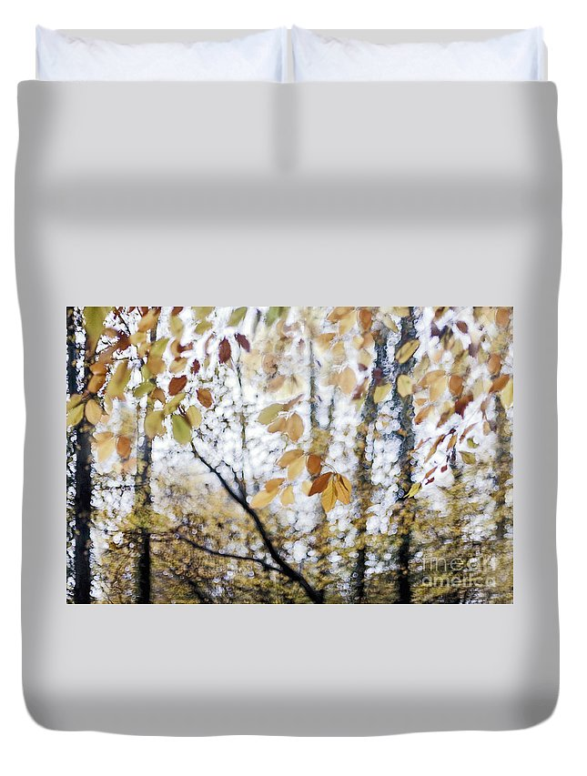 Autumn Duvet Cover featuring the photograph Whispers From The Treshold by Maria Ismanah Schulze-Vorberg