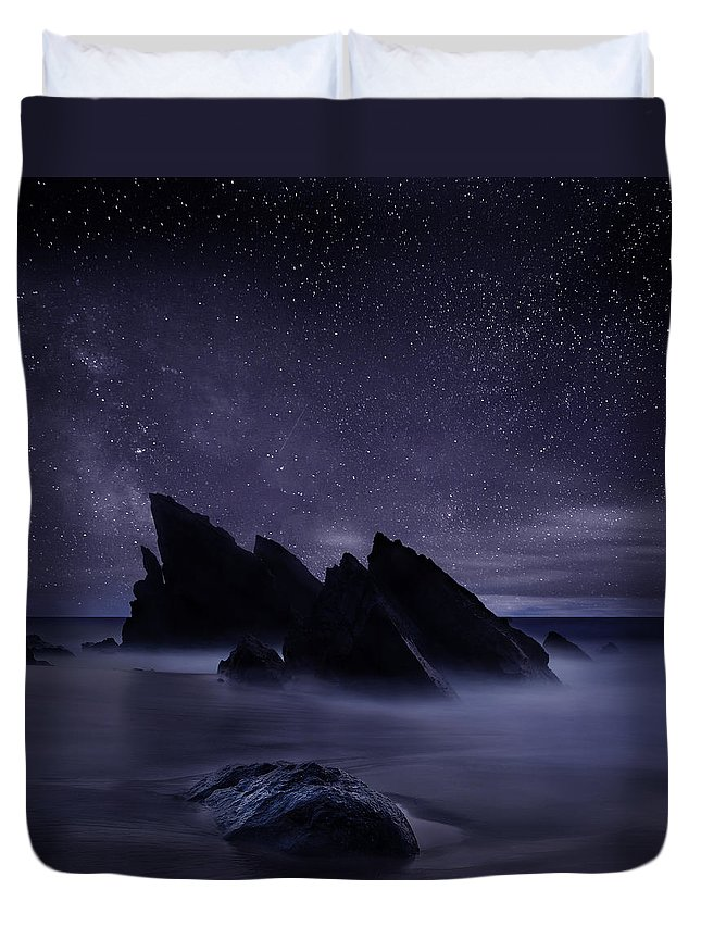 Night Duvet Cover featuring the photograph Whispers of eternity by Jorge Maia
