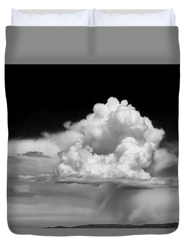 Art Duvet Cover featuring the photograph White Billowing Cloud Formation In Montana by Randall Nyhof