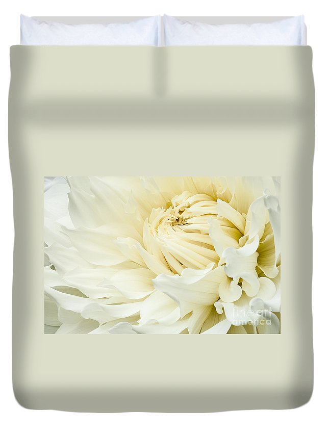 Walter Hardisty Duvet Cover featuring the photograph White Dahlia by Joe Mamer