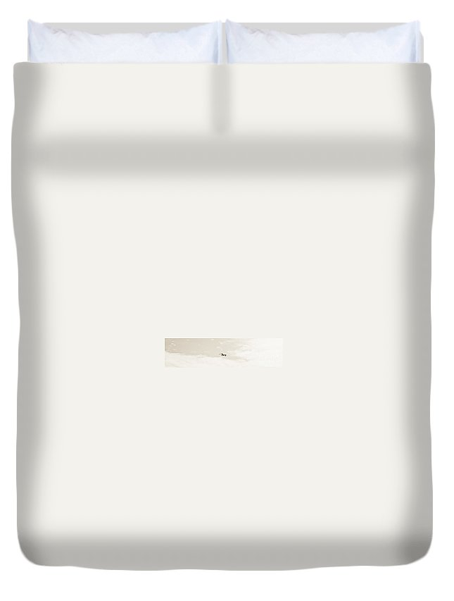 Sky Duvet Cover featuring the photograph White Flight by David Fabian