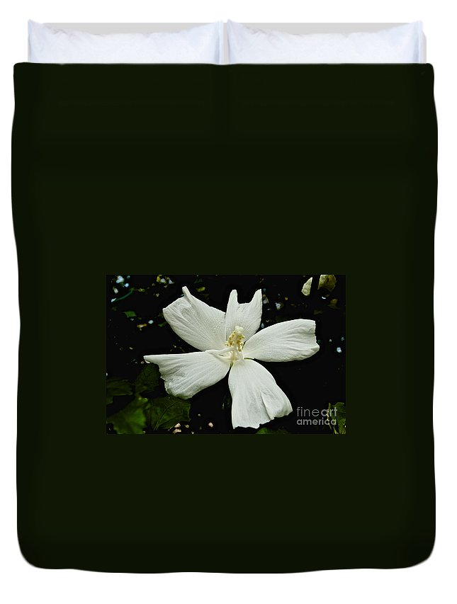 Flower Duvet Cover featuring the photograph White Flower by William Norton