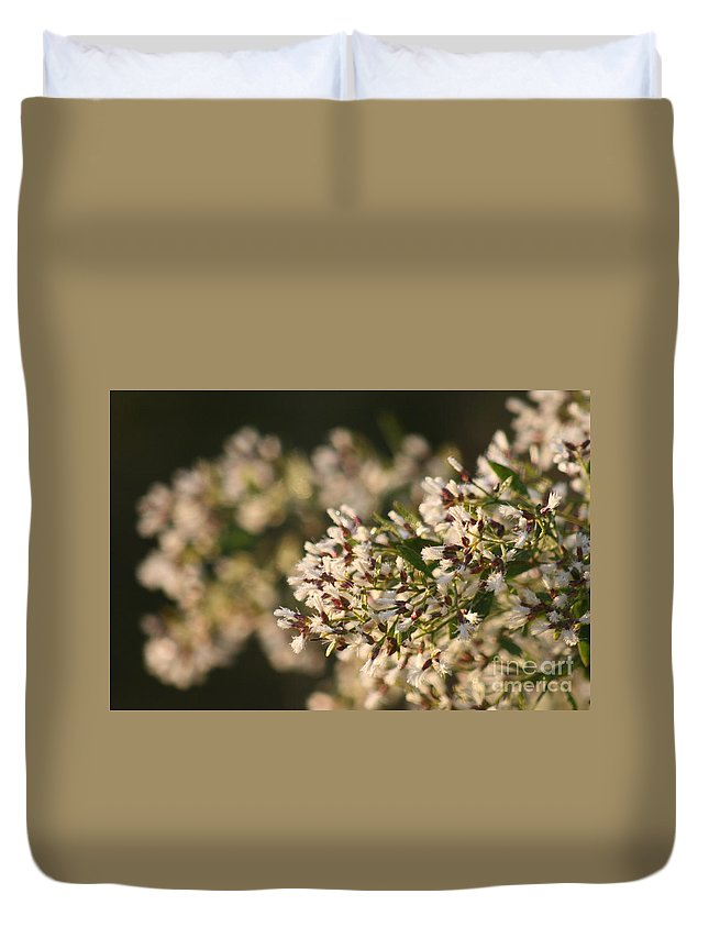 White Duvet Cover featuring the photograph White Flowers by Nadine Rippelmeyer