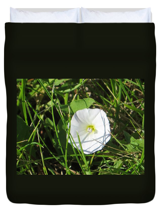 White Flower Duvet Cover featuring the photograph White Glow by Sonali Gangane