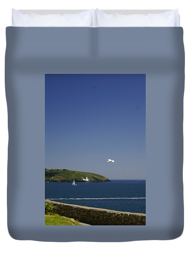 Gull Duvet Cover featuring the photograph White Gull by Simon Kennedy