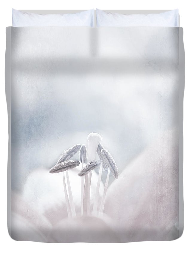 Lily Duvet Cover featuring the photograph White Lilies by Lali Kacharava