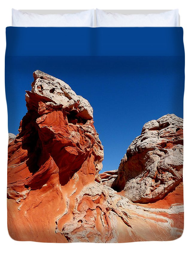White Duvet Cover featuring the photograph White Pockets by Alan Socolik