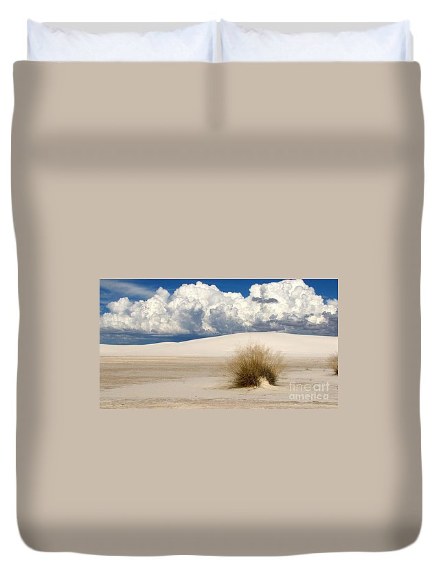 White Sands Duvet Cover featuring the photograph White Sands Cross by Marilyn Smith