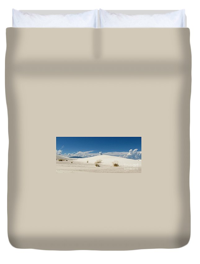 White Sands Duvet Cover featuring the photograph White Sands Landscape by Marilyn Smith