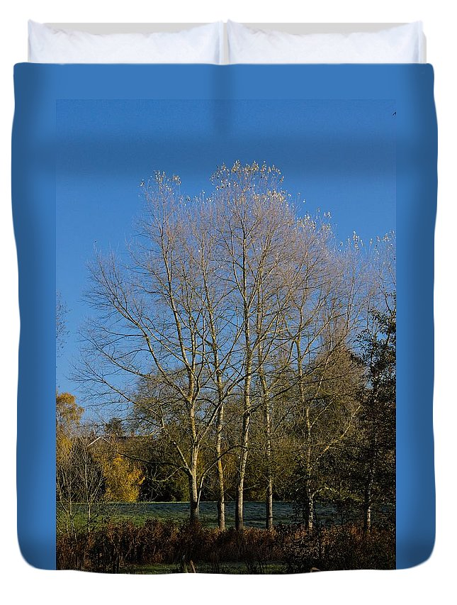 Canon Duvet Cover featuring the photograph White Tips by Jeremy Hayden