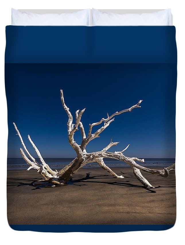 Clouds Duvet Cover featuring the photograph White Tree by Debra and Dave Vanderlaan