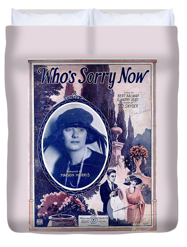 Nostalgia Duvet Cover featuring the photograph Who's Sorry Now by Mel Thompson