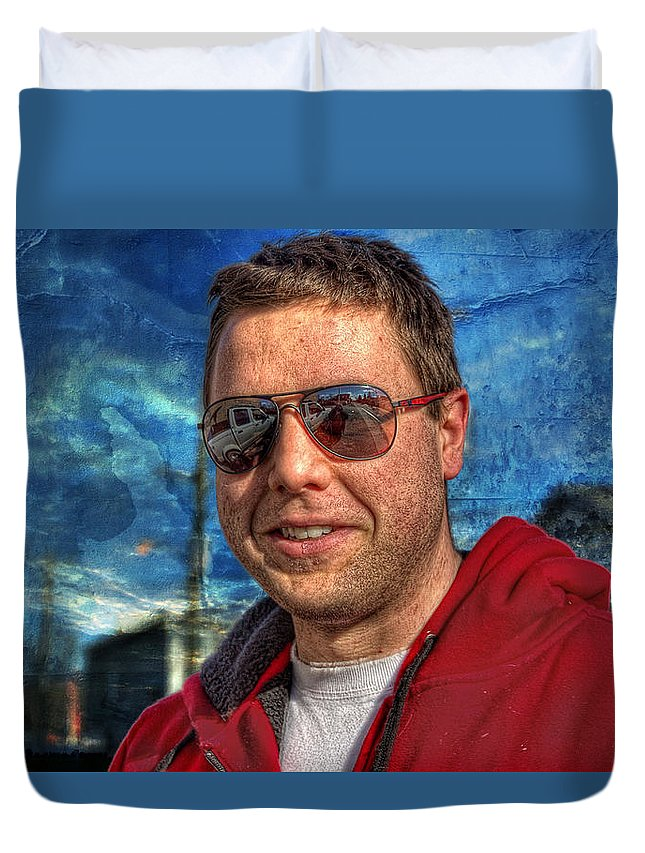 Xdop Duvet Cover featuring the photograph Wiggles' Daddy by John Herzog