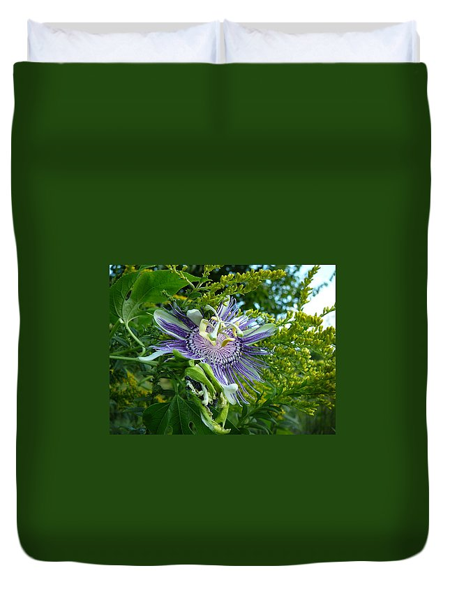 Great Duvet Cover featuring the photograph Wild Flower by Two Bridges North