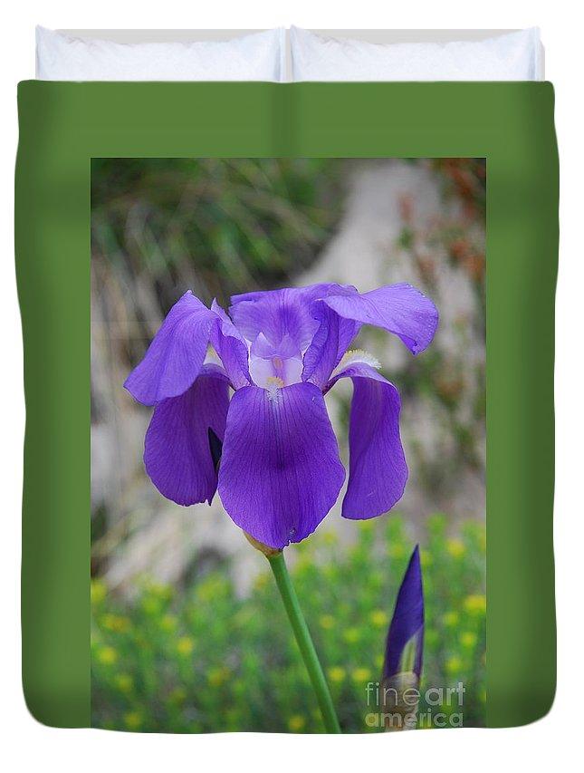 Iris Duvet Cover featuring the photograph Wild Growing Iris Croatia by David Fowler