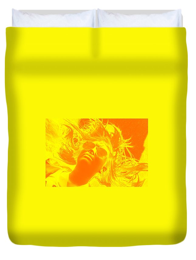Bright Duvet Cover featuring the photograph Wild Hair by Katherine Townsend