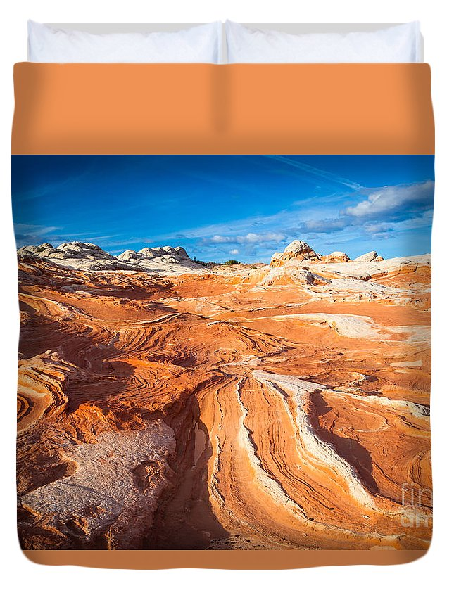America Duvet Cover featuring the photograph Wild Sandstone Landscape by Inge Johnsson