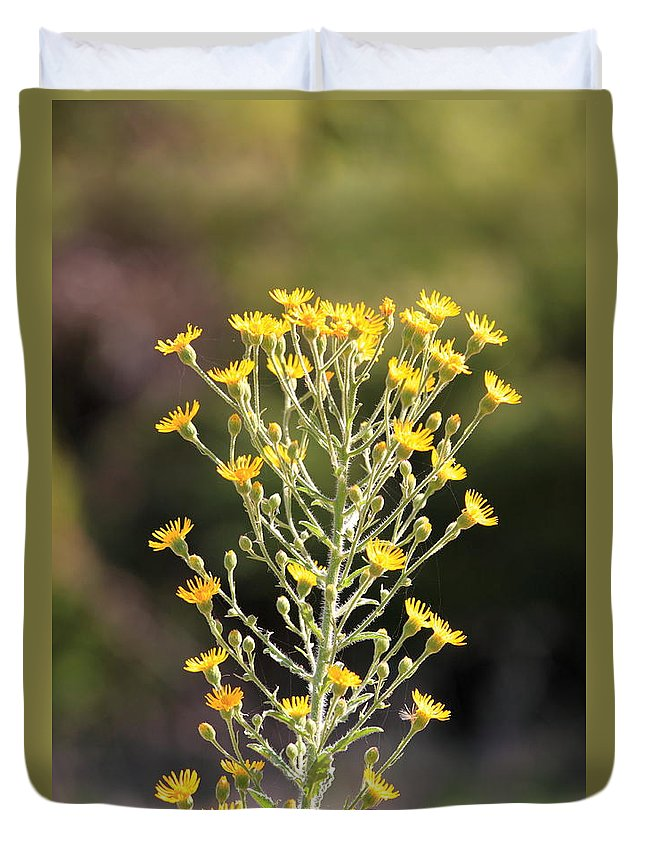 Nature Duvet Cover featuring the photograph Wildflower by Henrik Lehnerer
