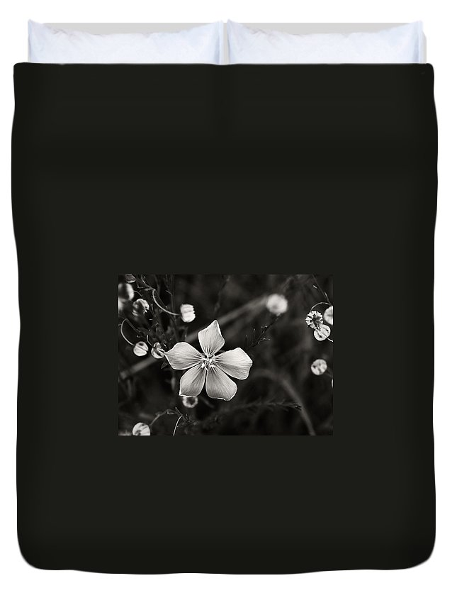 Wildflower Duvet Cover featuring the photograph Wildflower by Marilyn Hunt