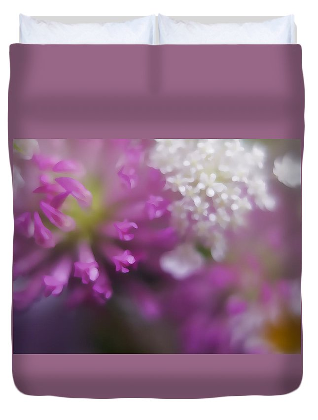 Flowers Duvet Cover featuring the photograph Wildflower Way Iv by Tina Baxter