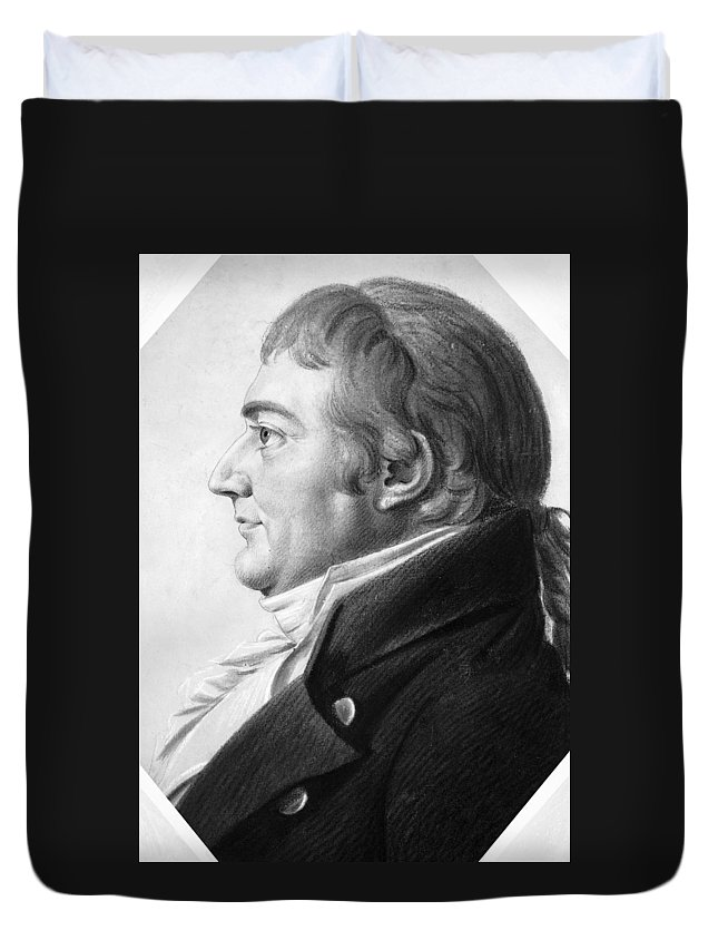 1804 Duvet Cover featuring the drawing William Augustine Washington IIi by Granger