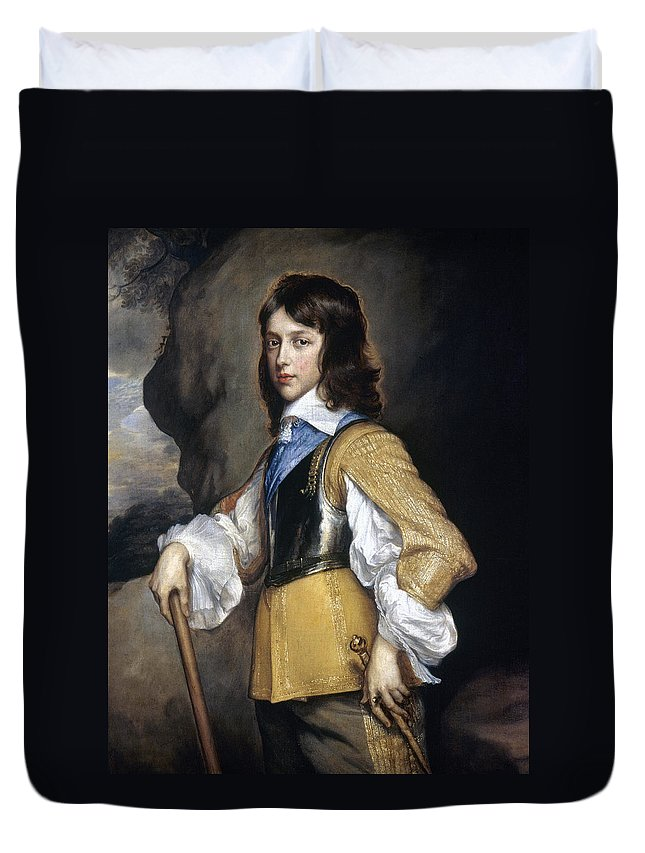 1640 Duvet Cover featuring the painting William II (1626-1650) by Granger